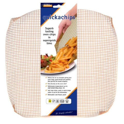 Quickachips Oven Shelf Chip Cooking Crisping Tray Liner